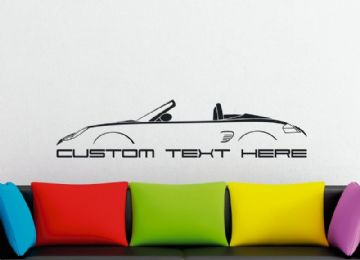 Large Custom car silhouette wall sticker - for Porsche Boxter 986 | classic